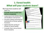 1 forest health what will your students learn