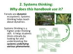 2 systems thinking why does this handbook use it