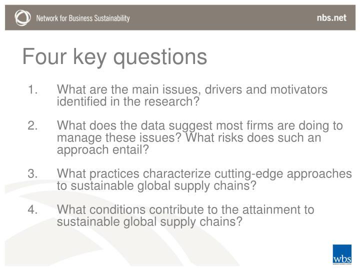 Four key questions