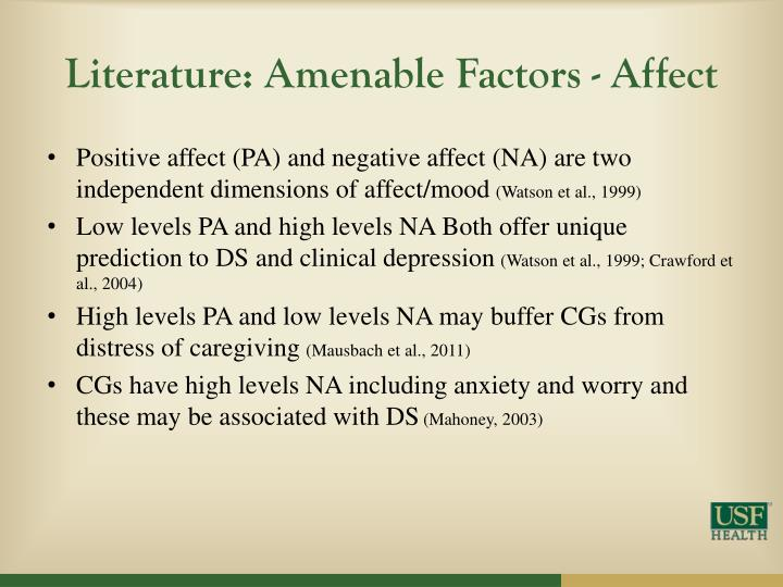 Literature: Amenable Factors