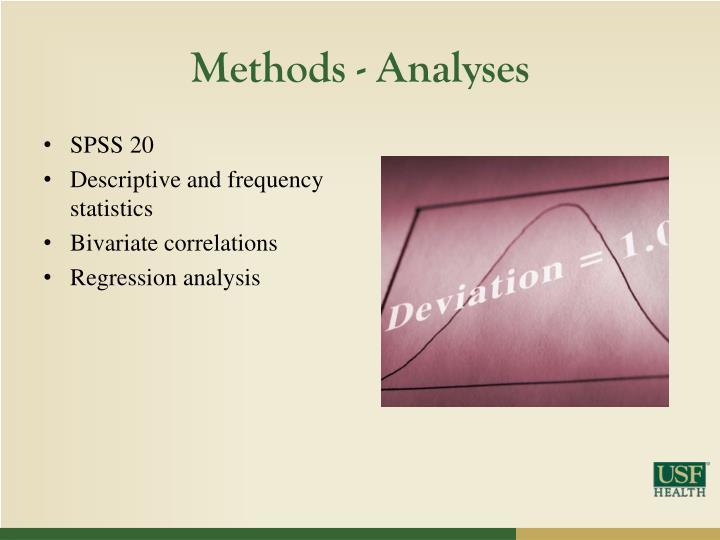 Methods - Analyses