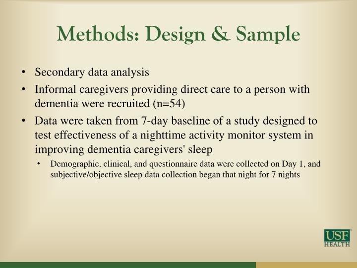 Methods: Design & Sample