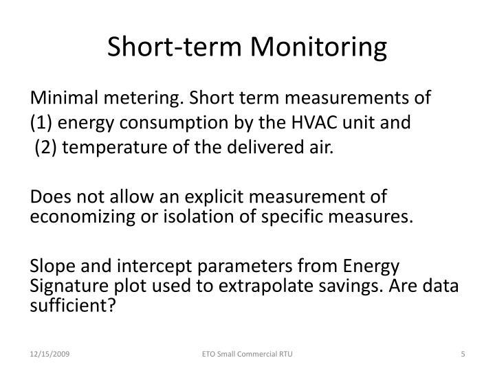 Short-term Monitoring