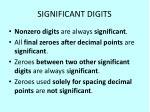 significant digits