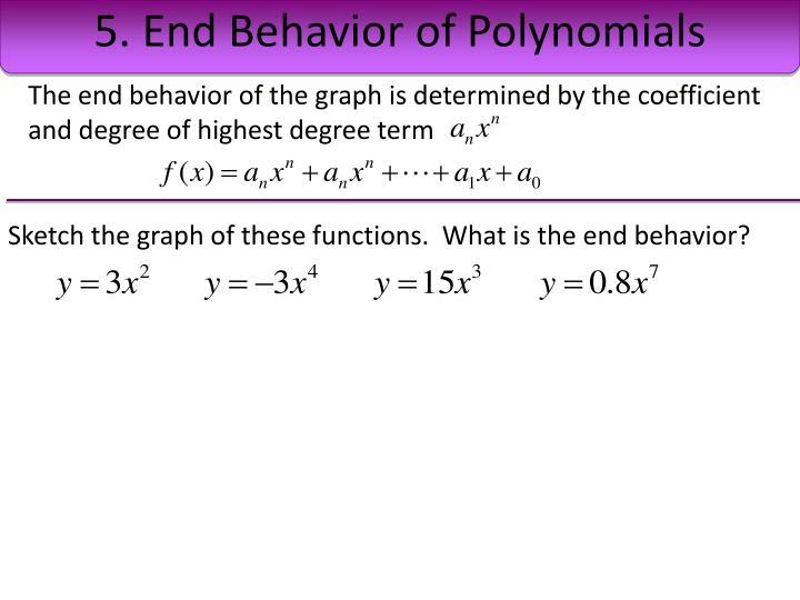 5. End Behavior of Polynomials