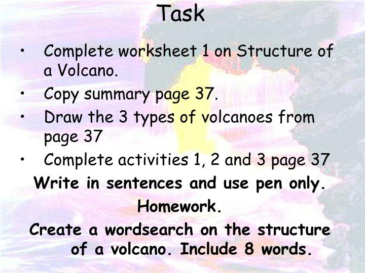 Ppt Structure Of A Volcano Powerpoint Presentation Id2417326. Plete Worksheet 1 On Structure Of A Volcano. Worksheet. Types Of Volcanoes Worksheet At Mspartners.co
