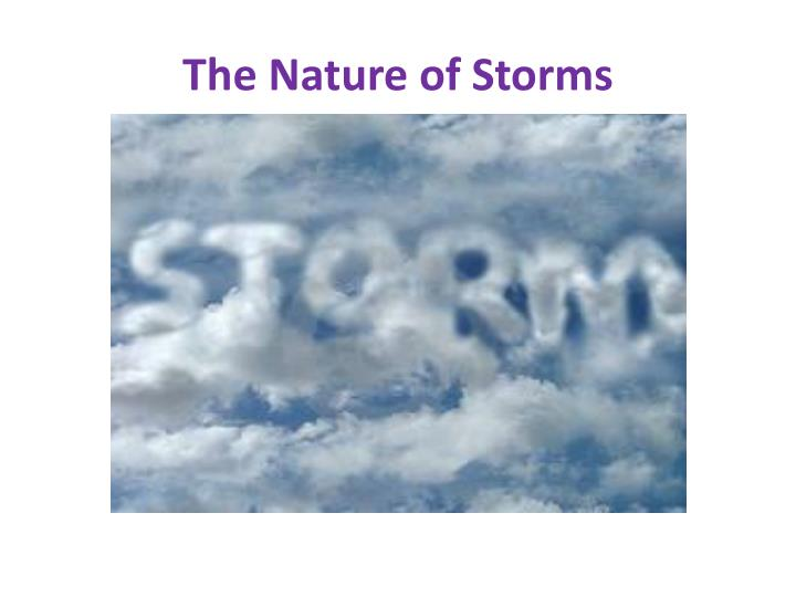 the nature of storms n.
