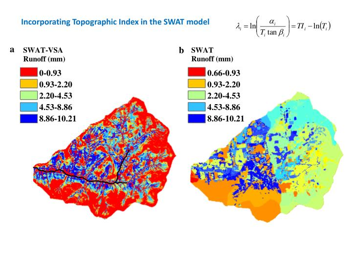 Incorporating Topographic Index in the SWAT model