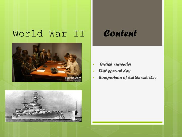 world war ii content n.