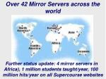over 42 mirror servers across the world