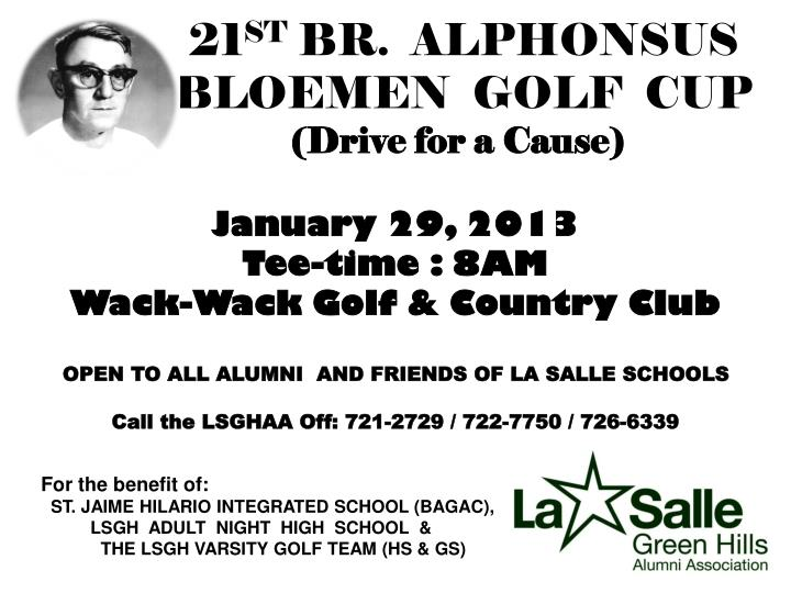 21 st br alphonsus bloemen golf cup drive for a cause