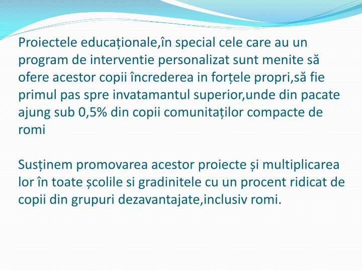 Proiectele