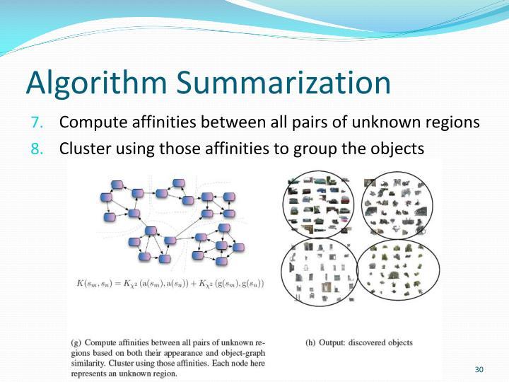 Algorithm Summarization