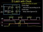 d latch with clock