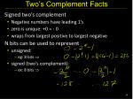 two s complement facts
