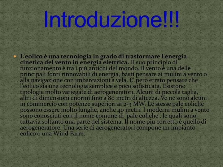 Introduzione!!!