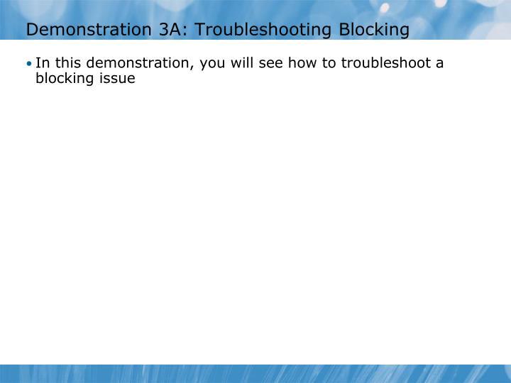 Demonstration 3A: