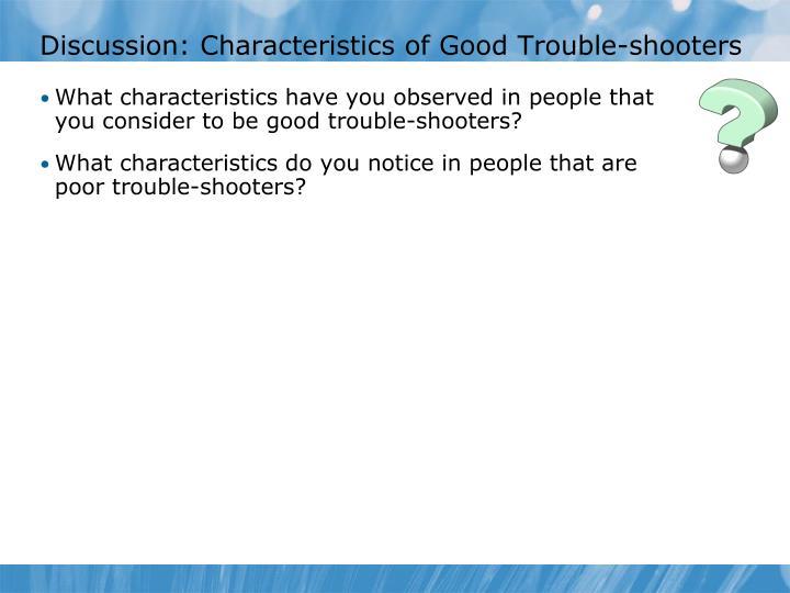 Discussion: Characteristics