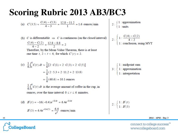 Scoring Rubric 2013 AB3/BC3