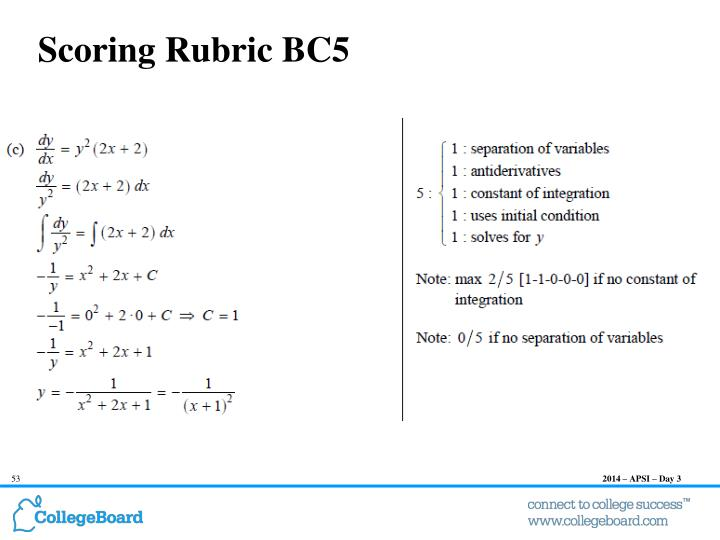 Scoring Rubric BC5