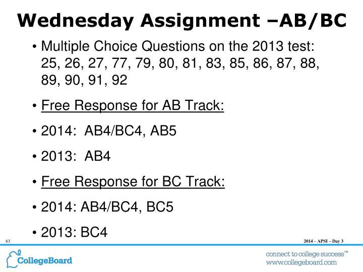 Wednesday Assignment