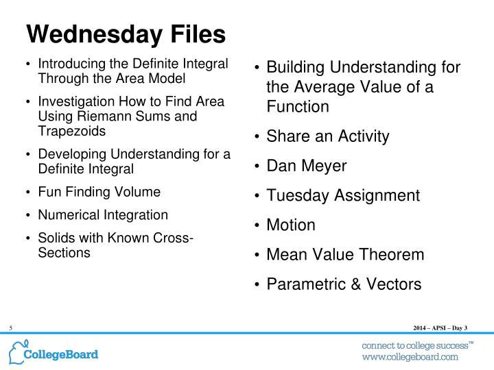 Wednesday Files
