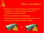 what is socialism1