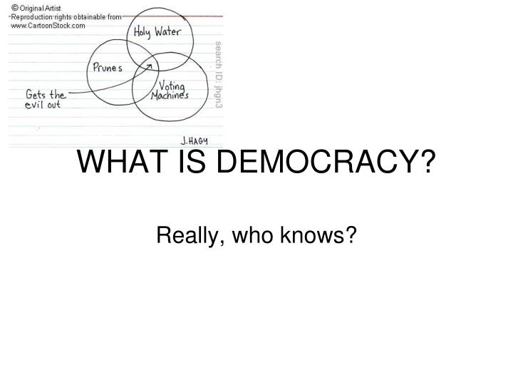what is democracy n.