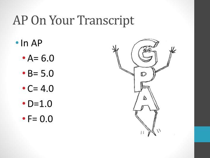 AP On Your Transcript