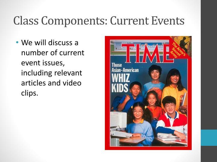Class Components: Current Events