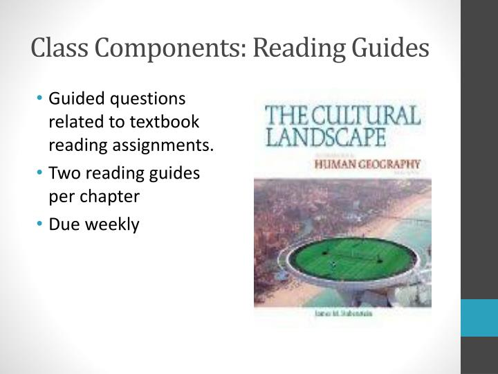 Class Components: Reading Guides