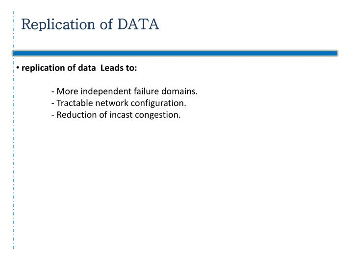 Replication of DATA