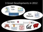 3 great developments in 2012