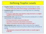 defining trophic levels
