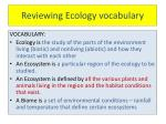 reviewing ecology vocabulary