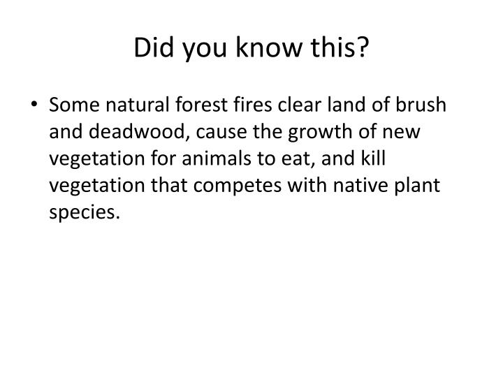 Did you know this