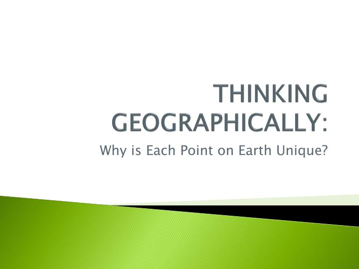 thinking geographically n.