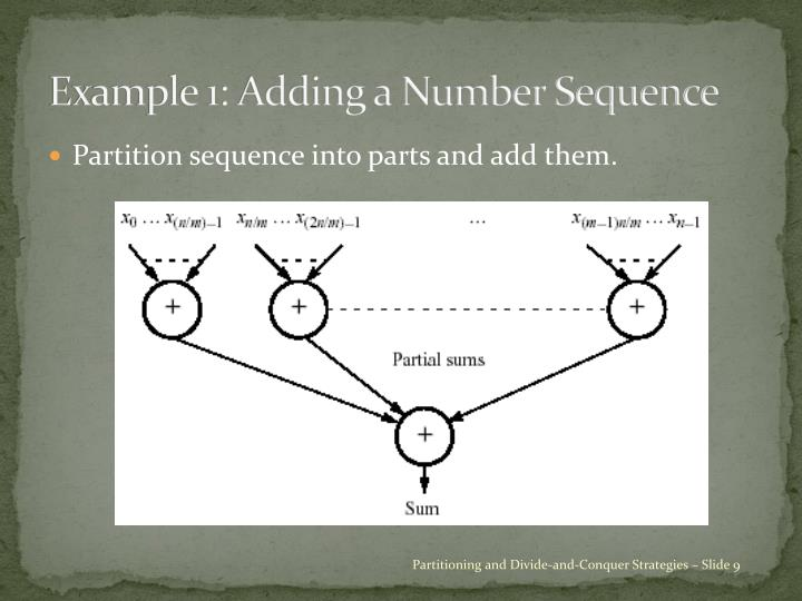 Example 1: Adding a Number Sequence