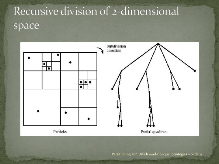Recursive division of 2-dimensional space