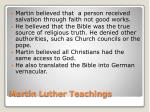 martin luther teachings