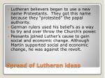 spread of lutheran ideas