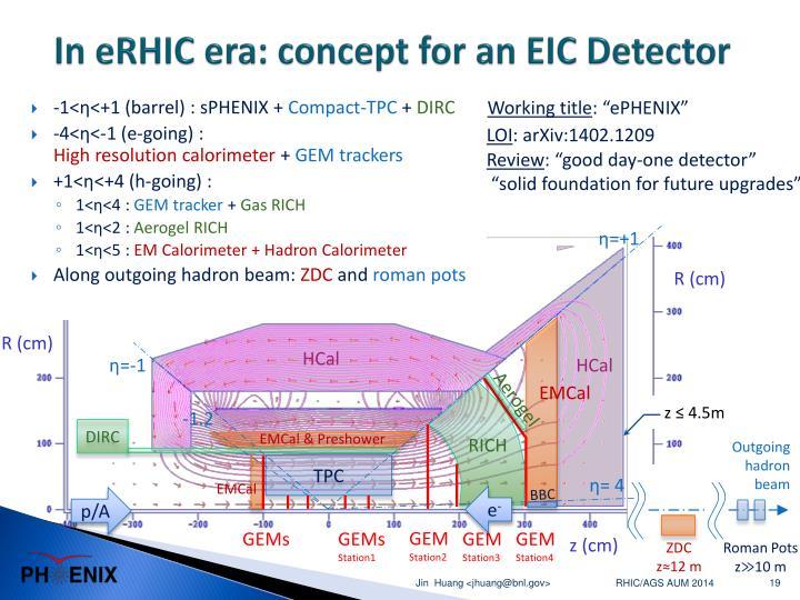 In eRHIC era: concept for an EIC Detector