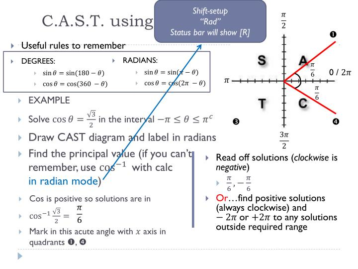 Ppt Simple Trig Equations Using Radians Powerpoint Presentation