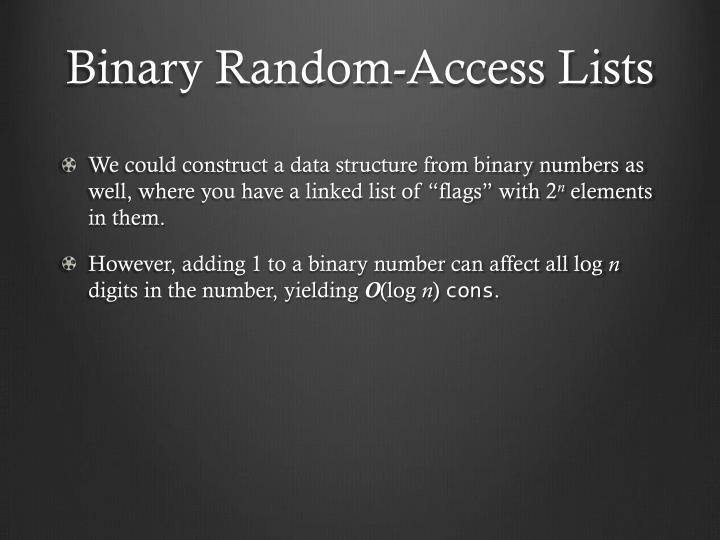 Binary Random-Access Lists