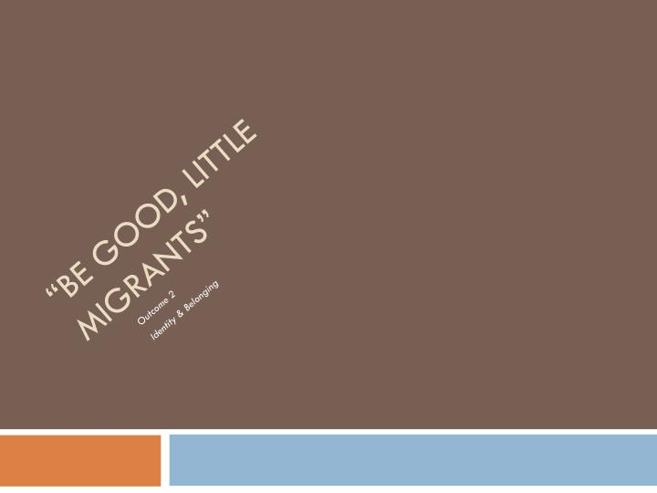 be good little migrants Duckspeak can be good or ungood (bad) depending on who is speaking, and whether what they are saying aligns with big brother's ideals to speak rubbish and lies may be ungood, but to do so for the benefit of the party may be good.