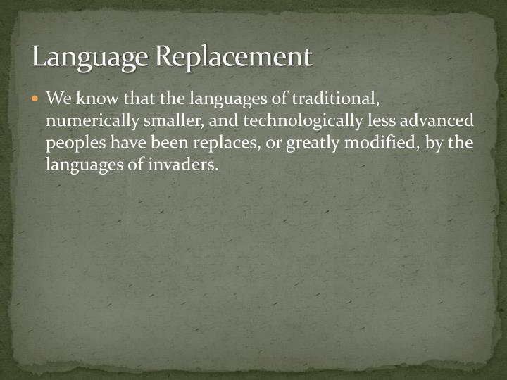 Language Replacement
