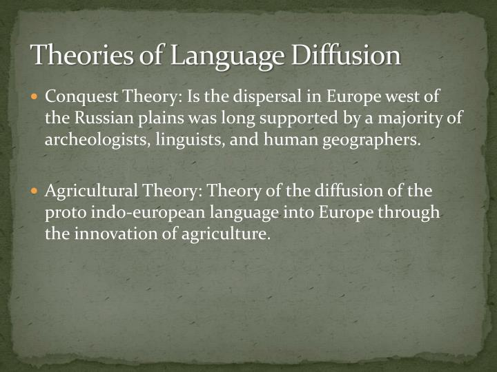 Theories of Language Diffusion