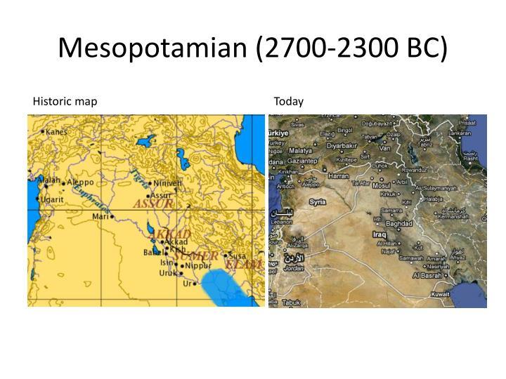 Mesopotamian 2700 2300 bc1