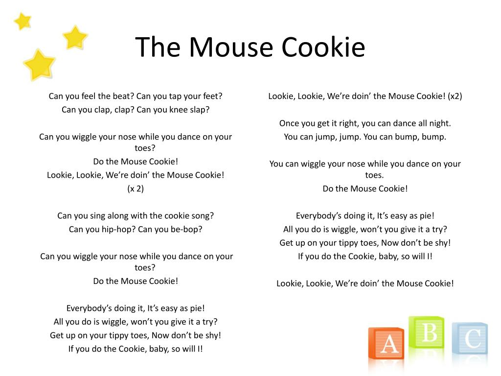 PPT - If You Give a Mouse a Cookie Sing -a-Long PowerPoint