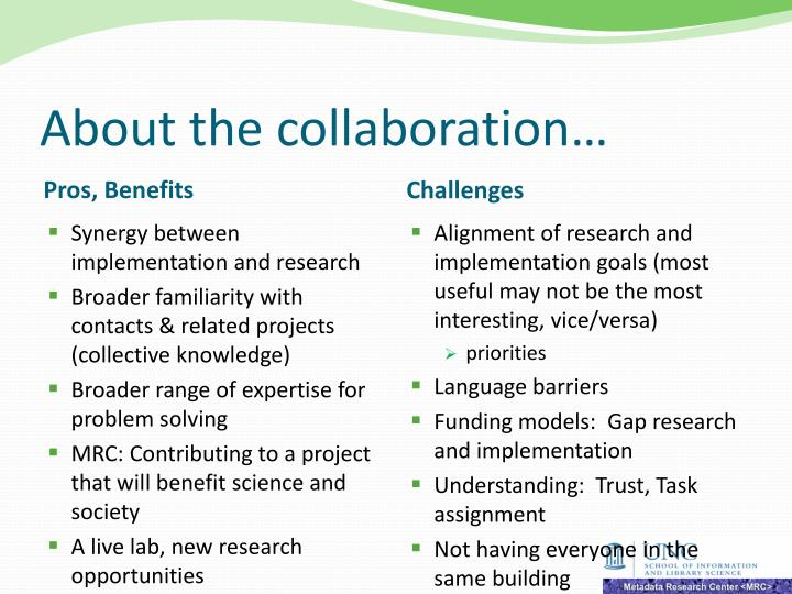 About the collaboration…